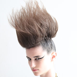 woman with crazy mohawk