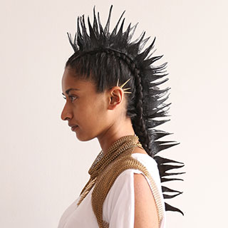 woman with spiky mohawk