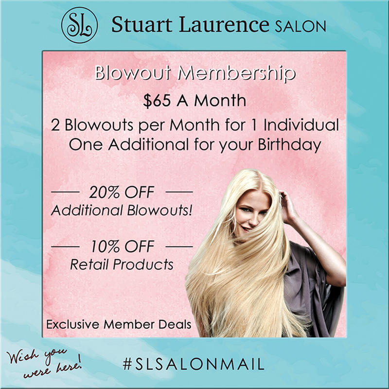 Blowout Club Membership at Stuart Laurence Salon.